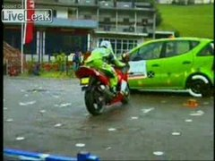 Thumbnail of Mercedes A-Class VS Motorcycle side impact crash test