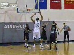 Thumbnail of Tall basketball player can dunk without jumping