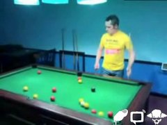 Thumbnail of Passing out while playing pool