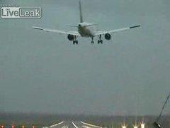Thumbnail of Near airplane crash caught on tape