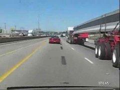 Thumbnail of Camaro stunting on highway