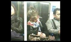 Thumbnail of Sleeping an the subway